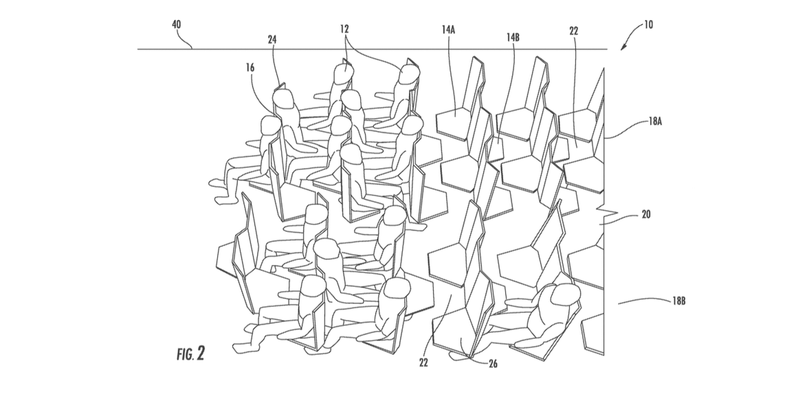 Illustration for article titled We Cannot Allow This Awful Idea for Airplane Seating to Become Real