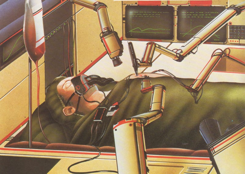 Illustration for article titled The Futuristic Robot Surgeons of 1982 Have Arrived