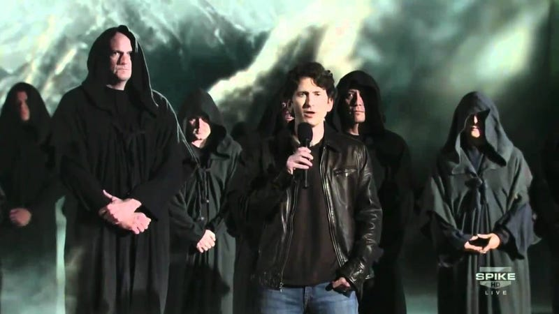 Bethesda Game Studio's Director Todd Howard announcing The Elder Scrolls V: Skyrim at the 2010 VGA's.