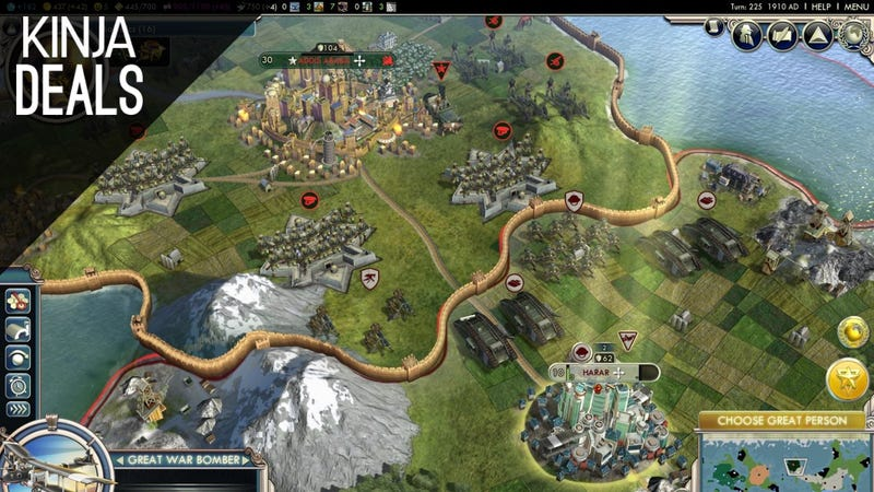 Illustration for article titled Add Civilization V to Your Steam Collection For $13