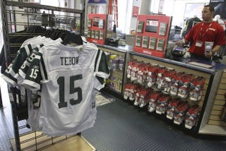 Illustration for article titled Nike Sues Reebok Over Controversial Tim Tebow Jets Jerseys