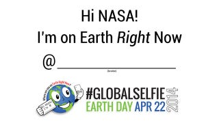 Illustration for article titled NASA Celebrates Earth Day With #GlobalSelfie Project
