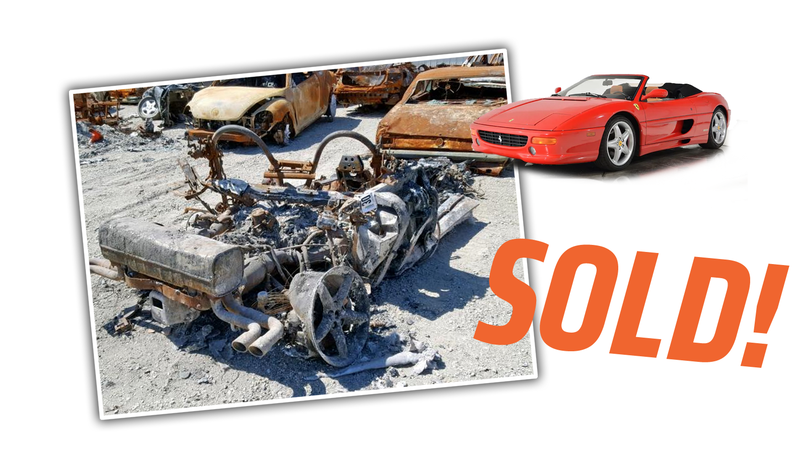 Illustration for article titled Someone Just Scored this Sweet-Ass 1999 Ferrari F355 at Auction and I Bet You're Jealous as Hell