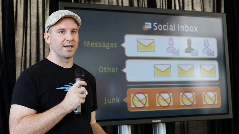 Facebook engineer Andrew Bosworth talks about the new Facebook messaging service at an announcement in San Francisco, Monday, Nov. 15, 2010.