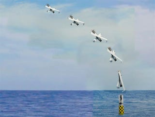 Illustration for article titled US Navy launches drone from sub
