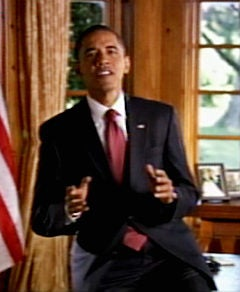 """Illustration for article titled """"Obamamercial"""" Featured More Hope, Less Singing Than Anticipated"""