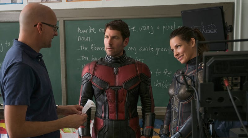 Peyton Reed, Paul Rudd, and Evangeline Lilly