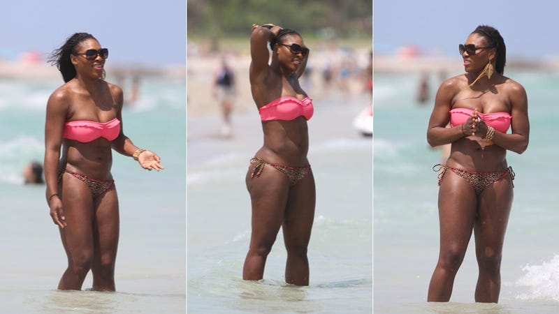 Illustration for article titled Serena Williams Has An Itsy Bitsy Teeny Weeny Half-Leopard Print Bikini