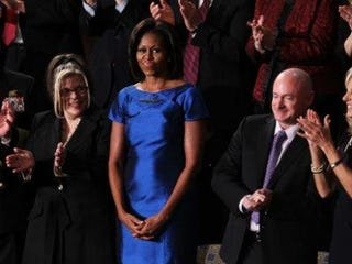 Michelle Obama at the State of the Union address (Getty Images News)