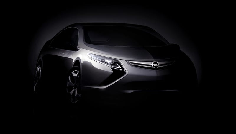 "Illustration for article titled Opel Ampera: New Electric Car Features ""Voltec"" Technology"