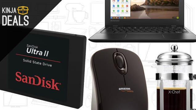 Flash Storage, Chromebook, French Press, and More
