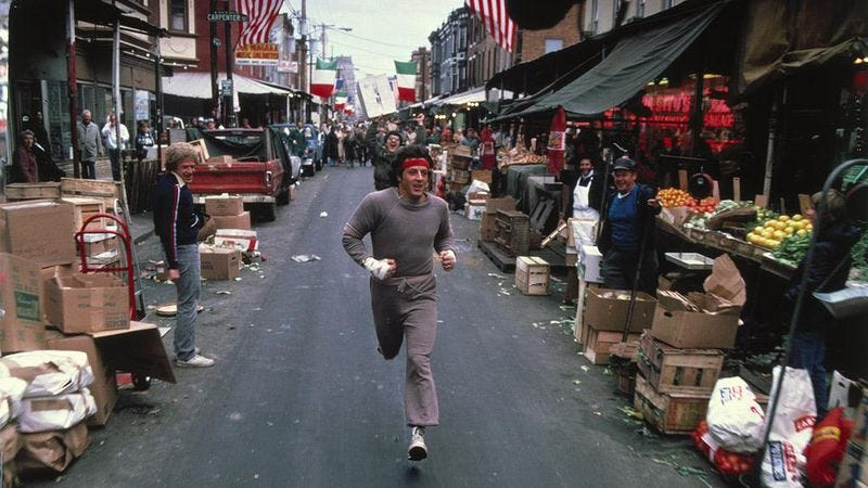 Now we know just how far Rocky ran in Rocky II