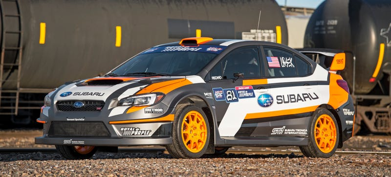 Illustration for article titled Subaru's New 2015 Rallycross Car Is Impossibly Fast