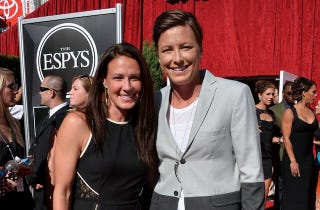 Illustration for article titled Abby Wambach Marries Longtime Girlfriend In Hawaii
