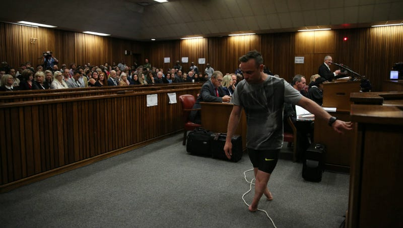 Illustration for article titled Oscar Pistorius Removes Prosthetic Legs in Court During Resentencing Hearing