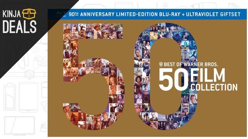 Illustration for article titled Today's Best Media Deals: Warner Bros 50 Film Collection, Magneto Helmet, and More