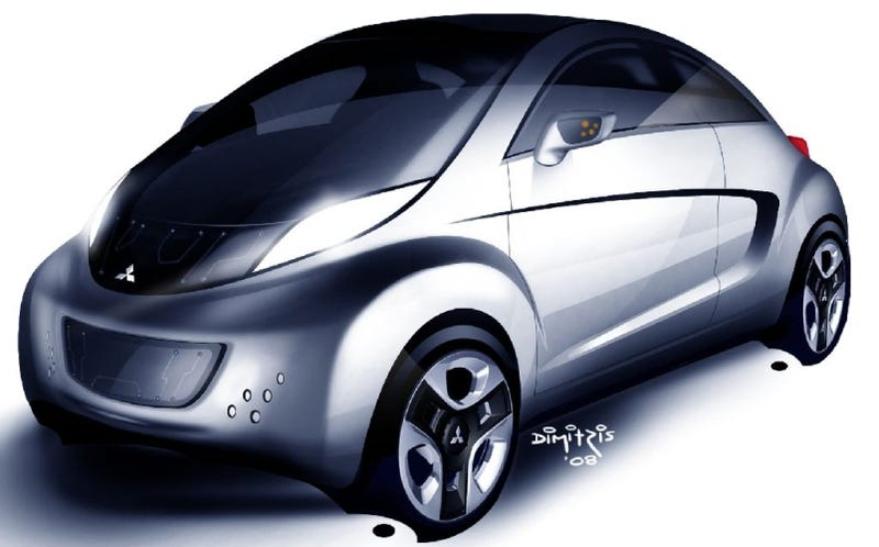 Illustration for article titled Mitsubishi i-MiEV Sport Air Concept Heading To Geneva