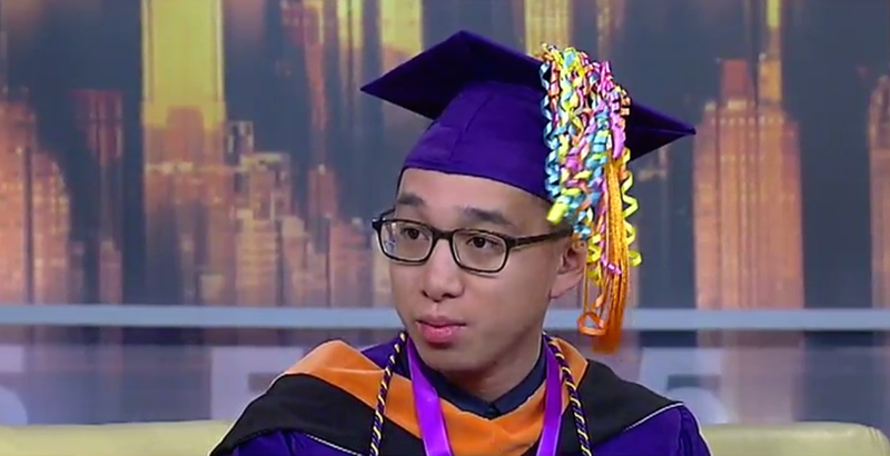 Hunter College student gets graduation ceremony on NYC subway
