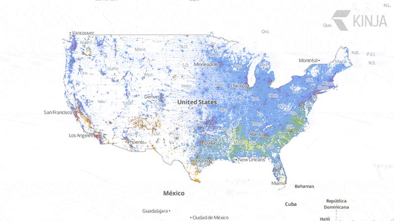 Zoom Into This Map To See Every Single Person In The US By Race - Us race map