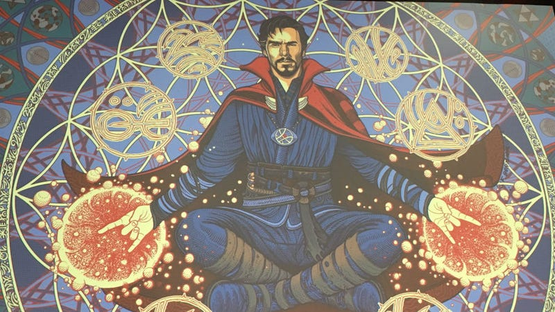 Artist Florian Bertimer did a poster for Doctor Strange that didn't get approved for Mondo. Read why below. All Images: Mondo