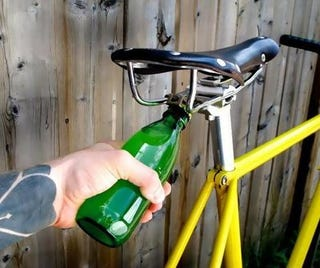Illustration for article titled A Bike-Mounted Bottle Opener, For The Not-So-Serious Cyclist