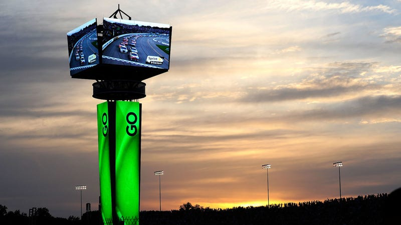 A scoring pylon at Richmond International Raceway in 2010.