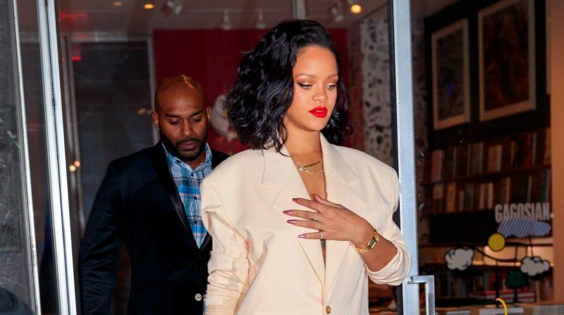 Rihanna goes to dinner at Kappo Masa on January 30, 2019 in New York City.
