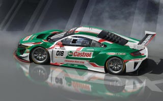 Illustration for article titled One Castrol-liveried Honda NSX GT3 is gonna race at Spa 24 this year.
