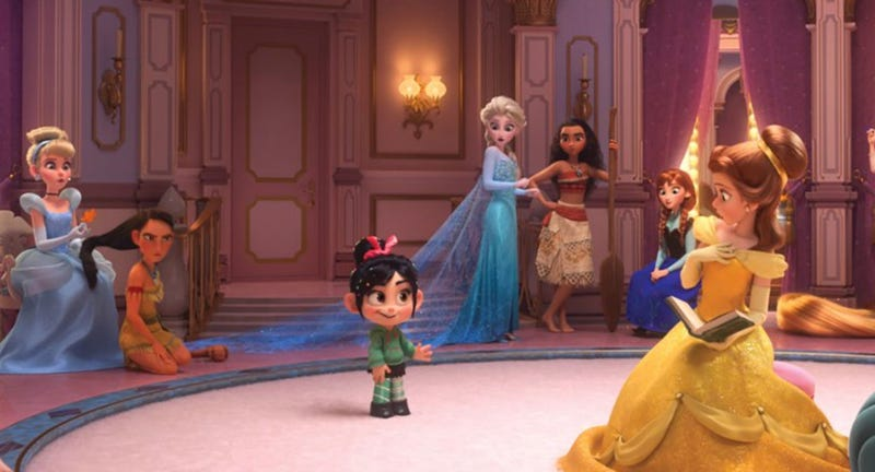 Vanellope (Sarah Silverman) meets all of the Disney princesses in Wreck-It Ralph 2.