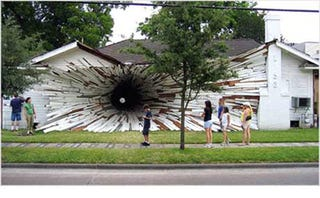 Illustration for article titled Texas House Sucked Into Wormhole