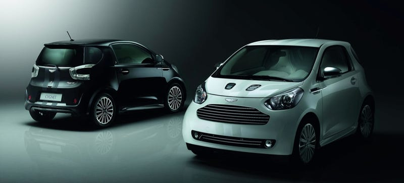 Illustration for article titled The Way To Make A Scion iQ An Aston Martin Cygnet