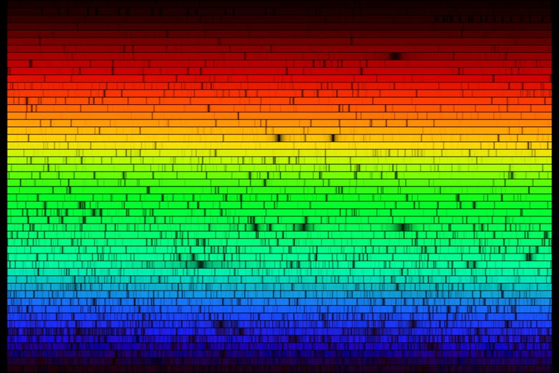 Illustration for article titled These are all the colors emitted by the Sun. Notice anything missing?