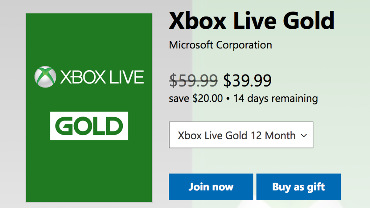 Re-Up Your Xbox Live Gold Membership For $40, Which Is as