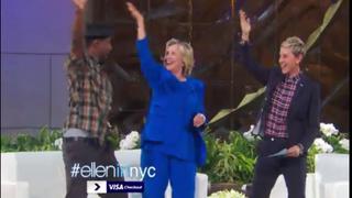 Hillary Clinton (center) learning the Nae Nae on Ellen DeGeneres' (right) show.YouTube Screenshot