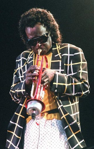 Miles Davis in Paris, July 6, 1991PATRICK HERTZOG/AFP/GettyImages