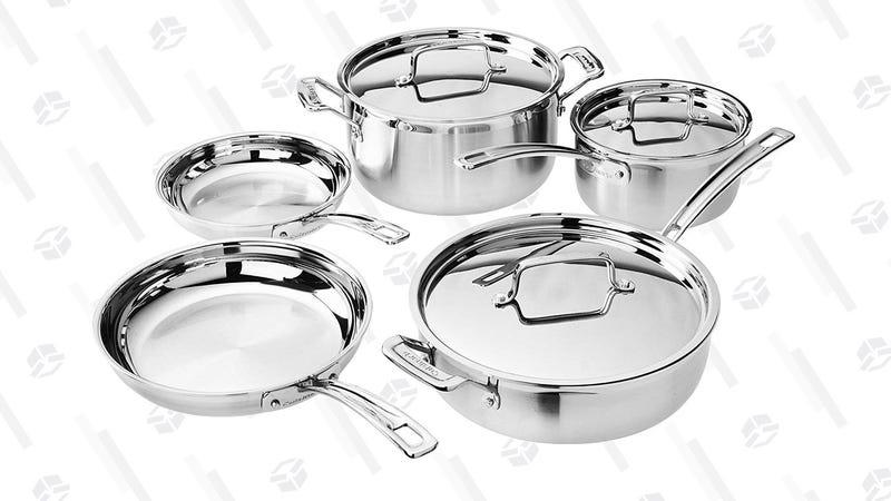 Cuisinart Multiclad Pro 8-Piece Cookware Set | $130 | Amazon