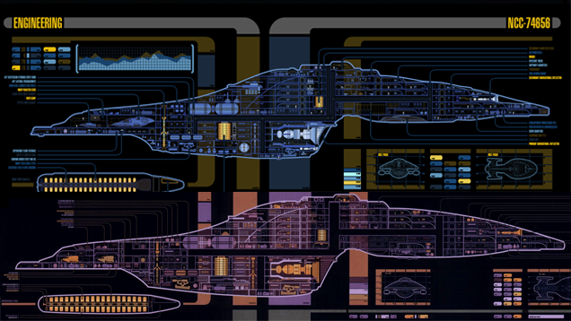 Star Trek Starships Schematics 49216 | TIMEHD Voyager Schematic on