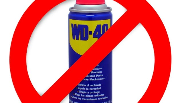 when should i not use wd 40. Black Bedroom Furniture Sets. Home Design Ideas
