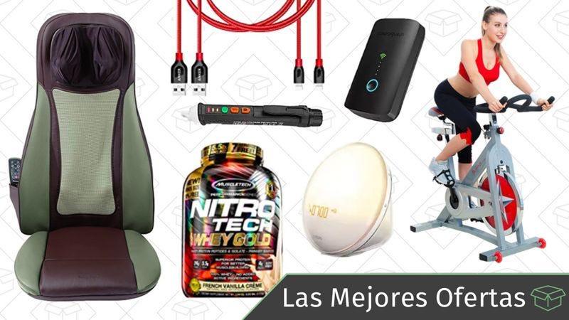 Illustration for article titled Las mejores ofertas de este martes: Luz despertador de Philips, accesorios para hacer ejercicio, Gold Box de masajeadores y más