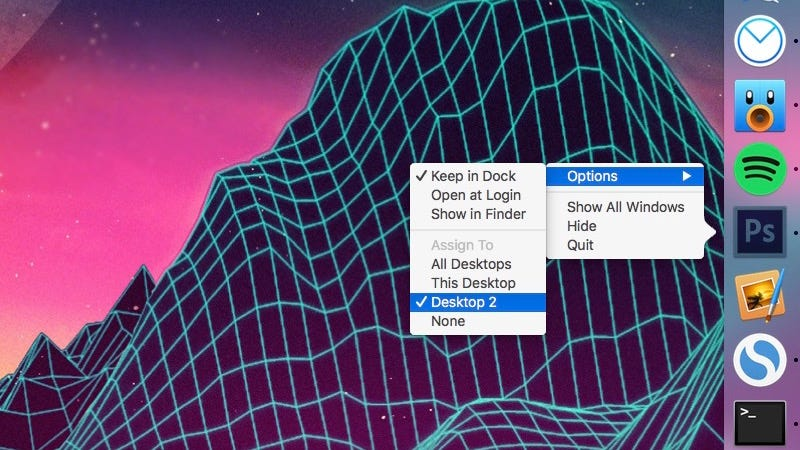 Illustration for article titled Set Mac Apps to Automatically Open on Different Desktops to Reduce Clutter