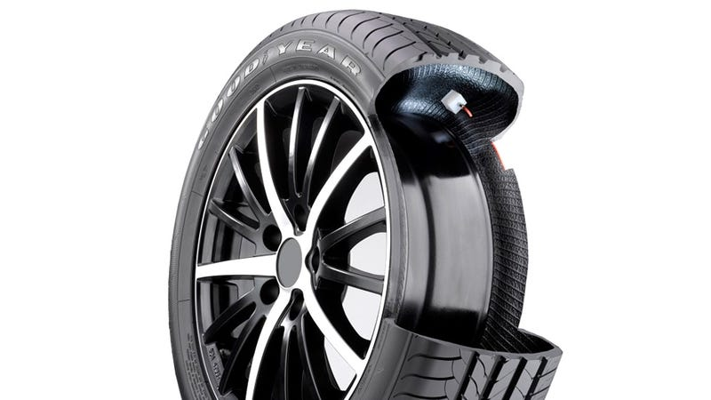 Brilliant Auto Inflating Tires Pump Themselves Up As They Roll