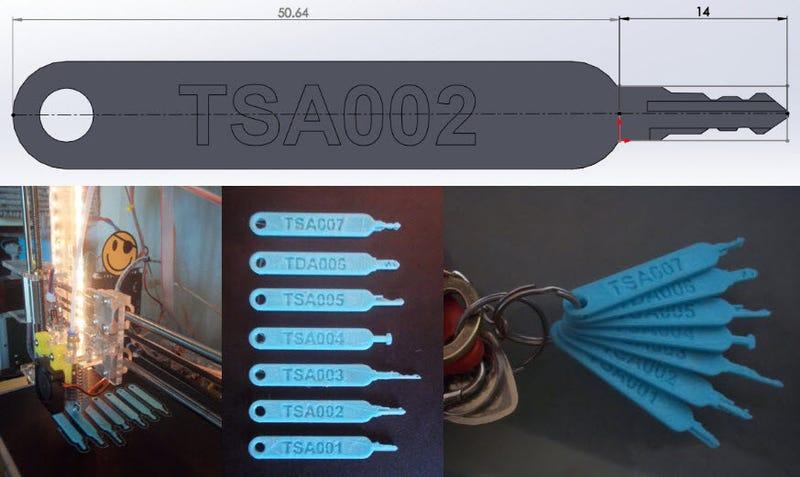 Imprimen en 3D los modelos de llaves maestras que la TSA utiliza para abrir el equipaje