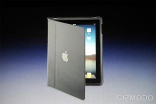 Illustration for article titled iPad Kickstand Accessory Doubles As A Nice Leather Case, Too