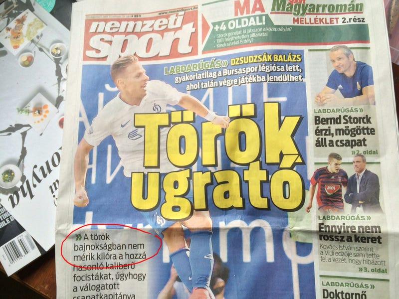 Illustration for article titled Óriás Inkei Bence-utalással a címlapján jött ki a Nemzeti Sport