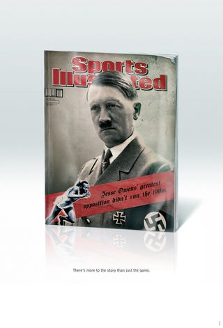 Illustration for article titled Sports Illustrated South Africa's Quirky New Ad Campaign: Black Panthers, Hitler