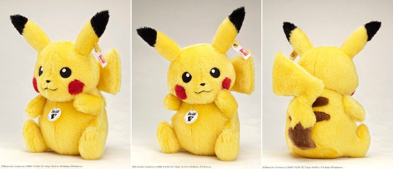 Illustration for article titled Here's a Pikachu Plush Toy for $360