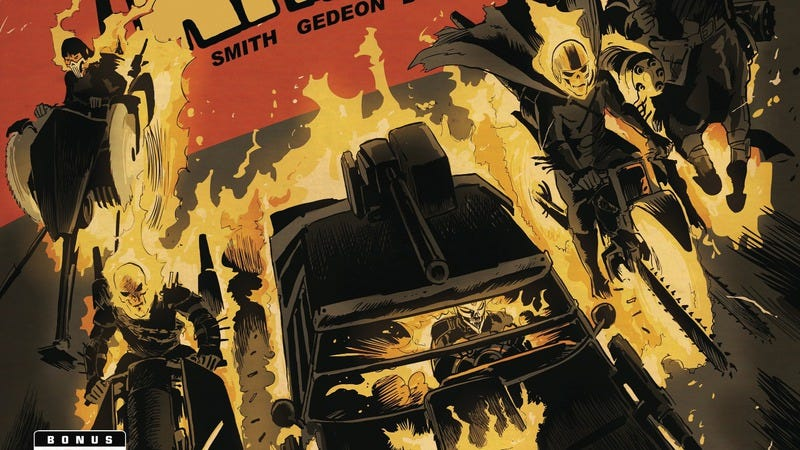 Illustration for article titled Exclusive Marvel preview: Secret Wars gets fast and furious with Ghost Racers