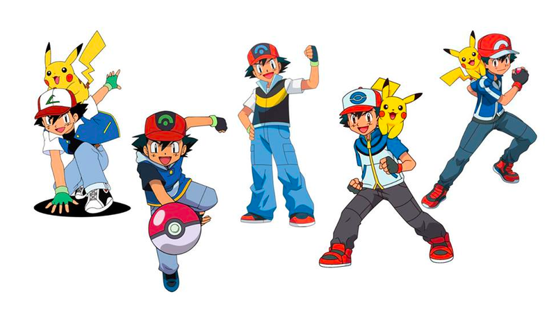 Illustration for article titled How Ash Ketchum's Character Design Has Evolved Over The Years