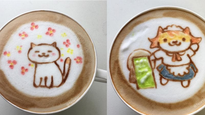 Illustration for article titled These Neko Atsume: Kitty Collector lattes are far too adorable to drink