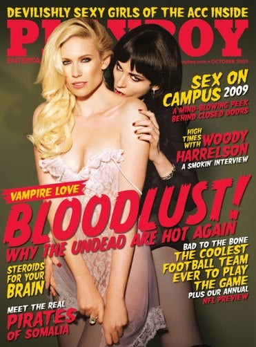 Illustration for article titled Could Playboy's Vampire Issue Bring Back She-Vamp Power?